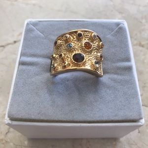 Accessories - Ring with multi collor stones